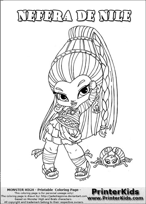 chibi monster high coloring pages download and print for free chibi monster high colouring pages picture to pin on
