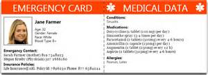 emergency card template emergency wallet card