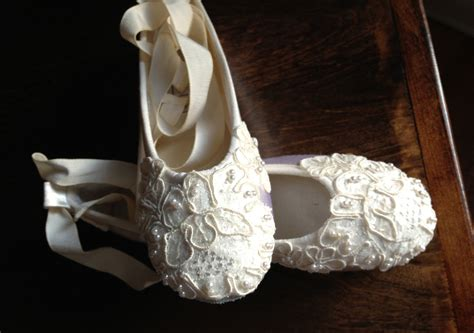 flower shoes ivory custom ballet style ivory satin flower shoes alencon lace