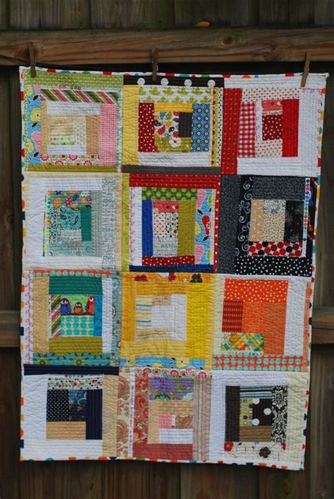 Modern Log Cabin Quilt by Scrappy Quilt Quilts Quilt Modern Log Cabins And Log Cabin Quilts
