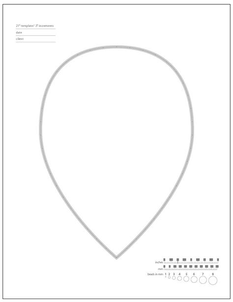shape template 6 necklace templates teardrop shape