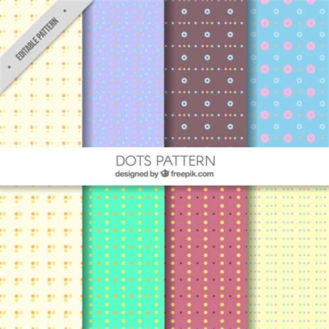 dots pattern freepik decorative polka dot patterns vector free download