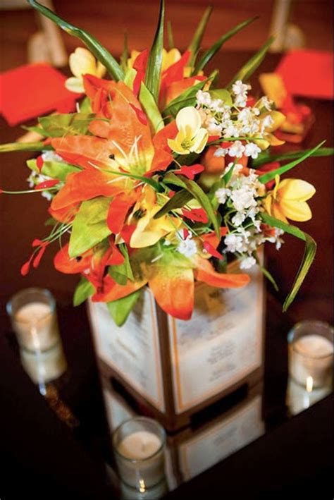 Vibrant Fall Wedding Flowers For Your Wedding Wedding Wedding Fall Centerpieces