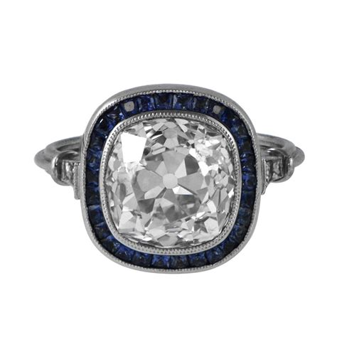 and sapphire engagement ring estate jewelry