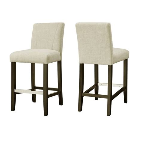 coaster 24 quot upholstered counter stool in ivory 130063