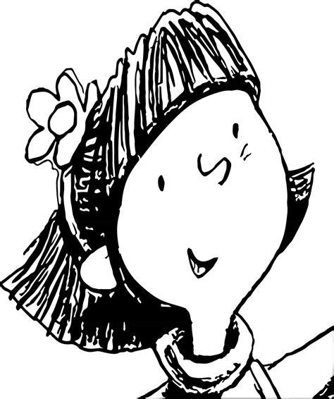 amelia bedelia kid face oloring page wecoloringpage