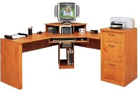 O Sullivan Corner Desk O Sullivan 10482 Odessa Pine Workcenter Corner Gardens Collection Corner Digital Dock