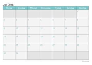 Kalender 2018 Juli Kalender Juli 2018 Zum Ausdrucken Ikalender Org