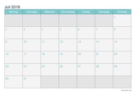 Kalender Juli 2018 Kalender Juli 2018 Zum Ausdrucken Ikalender Org
