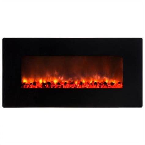 y decor little heater 36 in wall mount electric fireplace