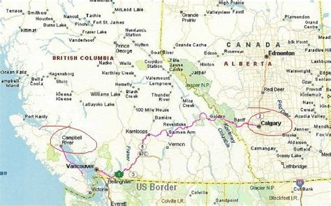 map of canada west west canada map