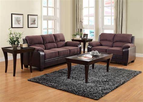 microfiber sofa set homelegance ellie sofa set brown microfiber and bi