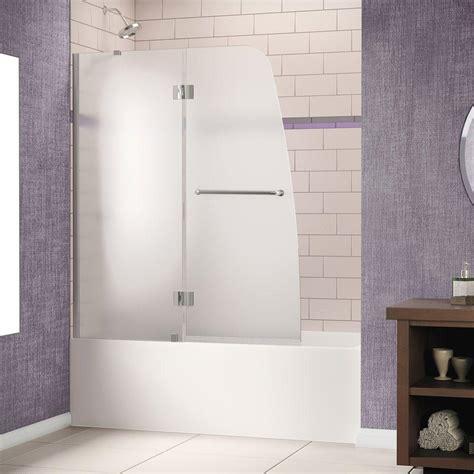pivot bathtub doors dreamline aqua 48 in x 58 in semi framed pivot tub and