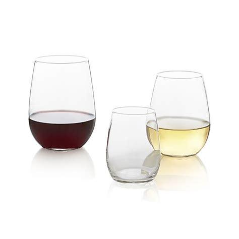 stemless wine glasses stemless wine glasses crate and barrel