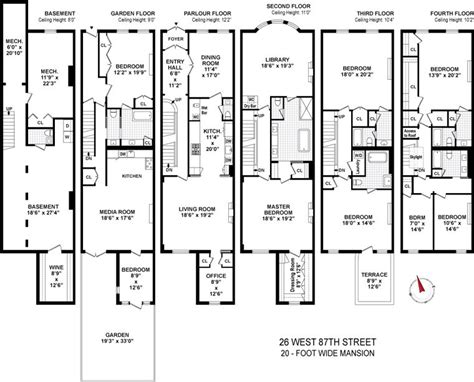 brownstone floor plans new york city brownstone floor plans