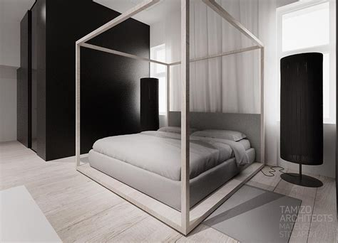 Modern Poster Bed | modern four poster bed interior design ideas