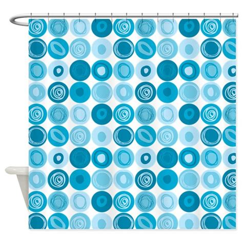 dot swirl shower curtain blue swirly dot pattern shower curtain by listing store