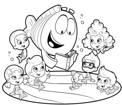 bubble guppies coloring pages nick jr bubble guppies coloring pages to print jpg 1038 215 891
