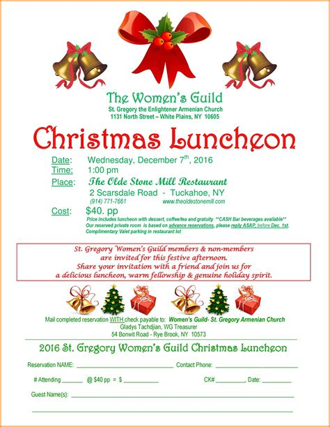 5 Christmas Lunch Flyer Template Cio Resumed Luncheon Flyer Template