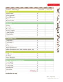 try this build a budget form for your household