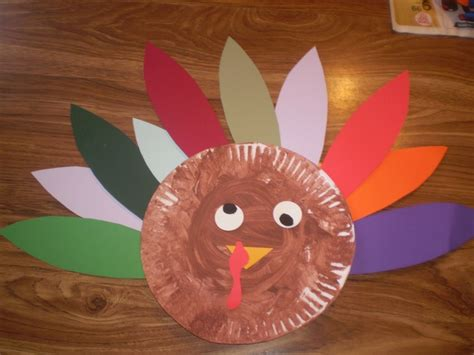 How To Make A Paper Plate Turkey - paper plate turkey thanksgiving