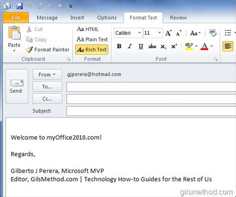 email format gm com how to change the default email format in outlook 2010