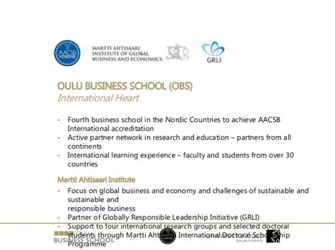 Capital Mba Accreditation by Webinar Aacsb Accredited Msc Programs In Oulu The