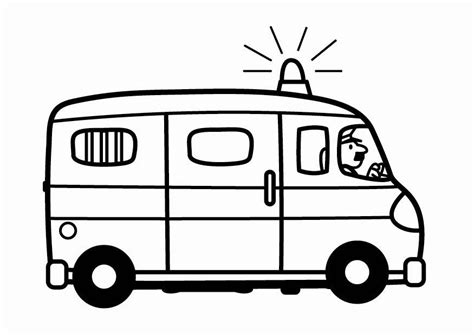 dibujos para colorear de policias dibujo para colorear furgoneta de polic 237 a img 24088