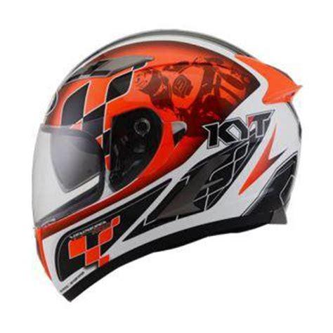 Helm Nhk Terminator Defender White helmets kyt vendetta race white orange fluo