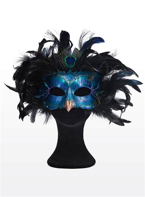 Two Masks For A Radiant by Radiant Peacock Made Of Leather