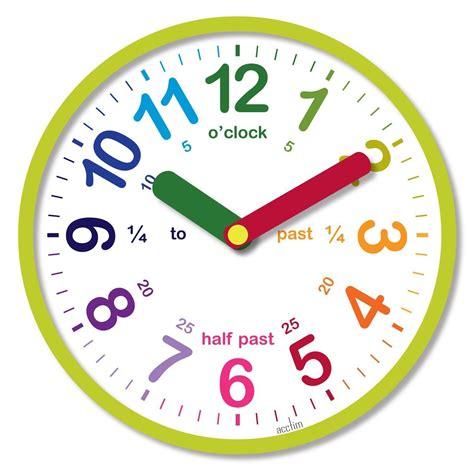 acctim lulu green kids teaching clock time children fun