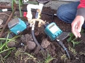 Garden Hose Installation How To Install A Drip Irrigation And Water Timer Using A