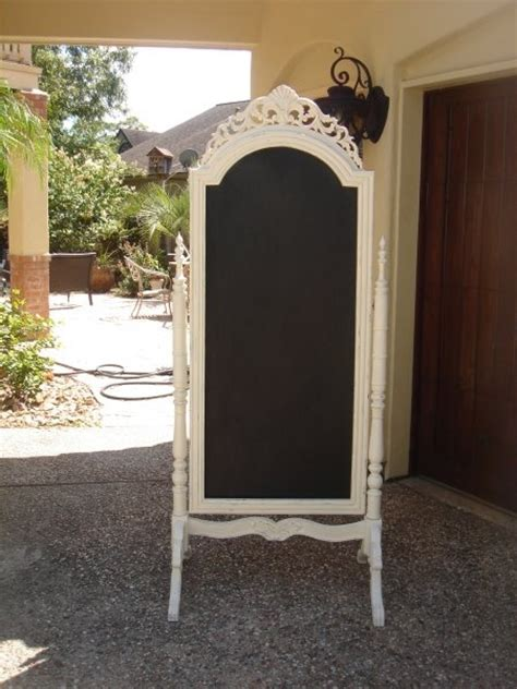 diy chalkboard stand diy paint an stand up mirror with chalk board paint