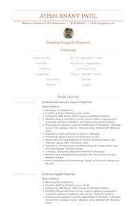 Desktop Support Resume Sample Desktop Support Engineer Resume Samples Visualcv Resume