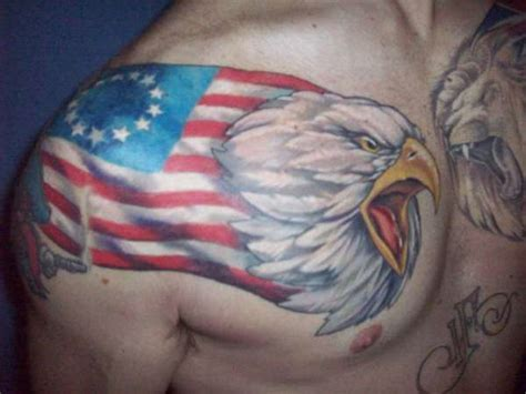 old glory tattoo eagle us flag