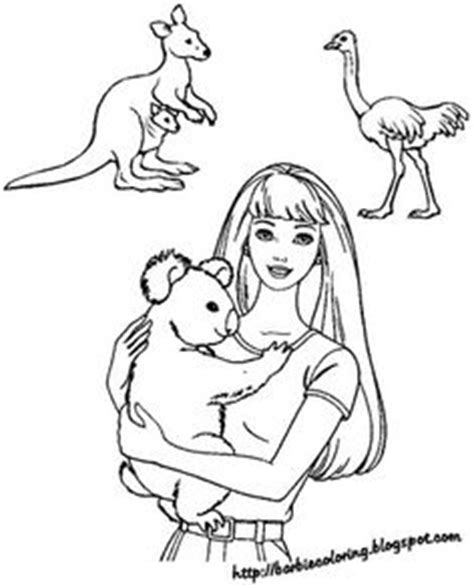 barbie koala coloring page 1000 images about barbie coloring pages on pinterest