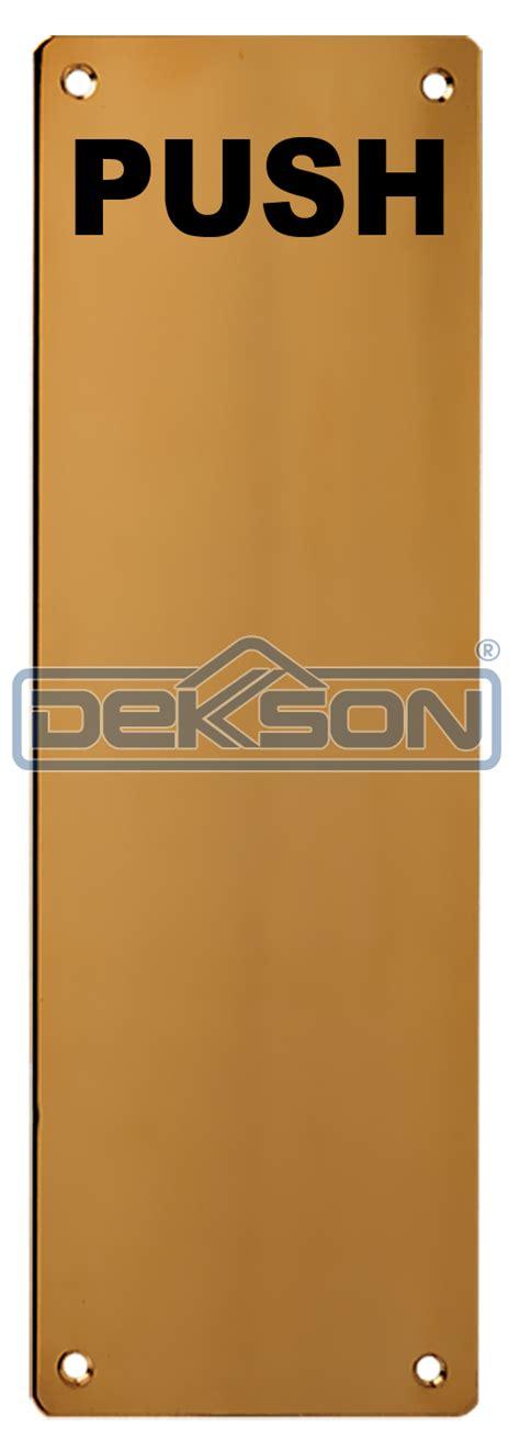 Sign Label Dorong Push kunci dekkson katalog kunci dekkson sign plate