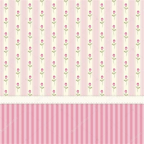 shabby chic pink wallpaper vintage wallpaper with shabby chic roses stock vector