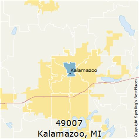zip code map kalamazoo county best places to live in kalamazoo zip 49007 michigan