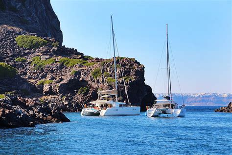 best catamaran cruise santorini top 5 things to do in santorini greece layers of happiness