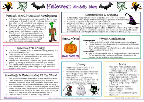 activity ideas sheet mindingkids