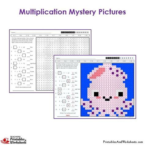 Multiplication Mystery Picture Worksheets by 3rd Grade Multiplication Mystery Pictures Coloring