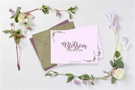 greeting card template psd free free blossom greeting card mockup psd template