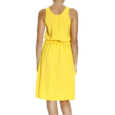 Dress A24397 Yellow M lyst m missoni silk sleeveless dress with coulice in yellow