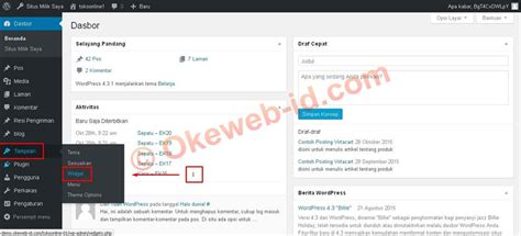 Tutorial Website Indonesia | tutorial mengatur sidebar oke web indonesia