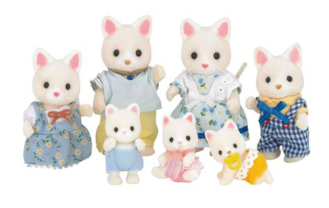 sylvanian families cat family silk cat family fs 12 sylvanian families japan calico