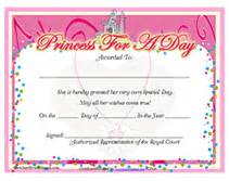princess certificate template free printable princess for a day award certificates 4 best images of princess certificate printable free