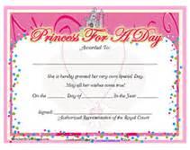 princess certificate template free printable princess for a day award certificates