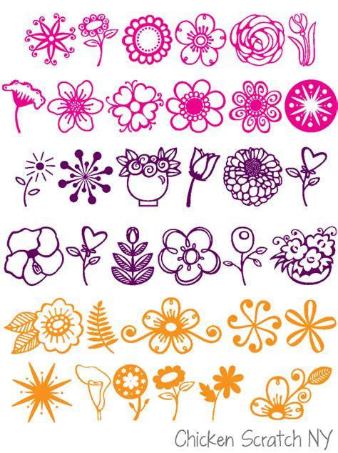doodle flower font floral fonts