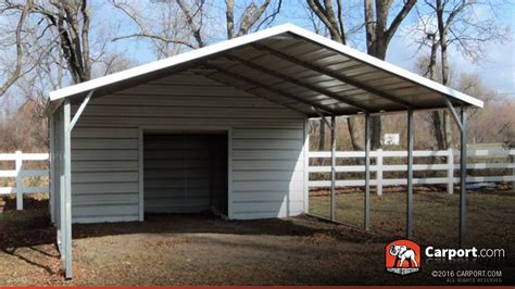 carport shop carport boxed eave roof 18 x 26 shop metal carports